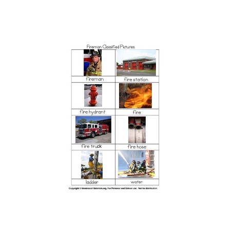 Fireman Classified Picture Cards - PDF Only
