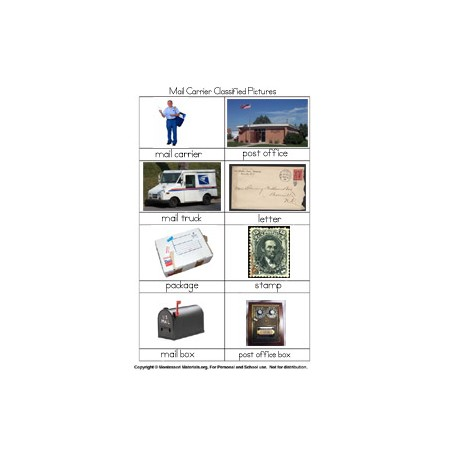Mailman Classified Picture Cards - PDF Only