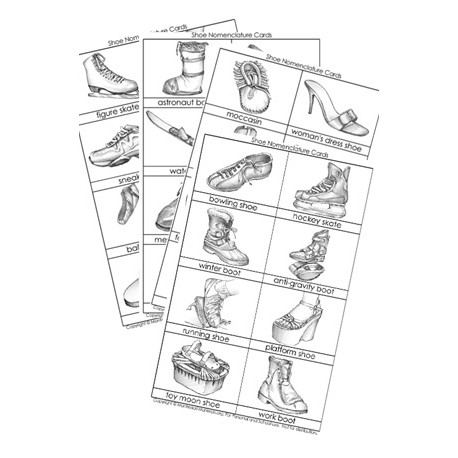 Shoe Nomenclature Cards - PDF Only