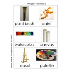Art Supplies Nomenclature Cards - PDF Only