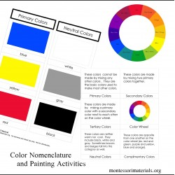 Color Nomenclature Cards and Painting Activities - PDF File