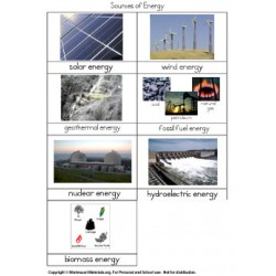 Energy Nomenclature Cards - PDF Only
