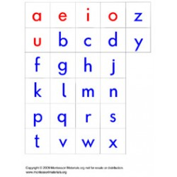Moveable Alphabet Letters - PDF File