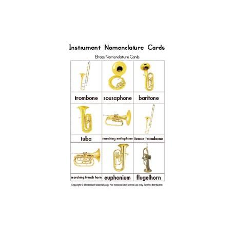 Instruments Nomenclature Cards - PDF File