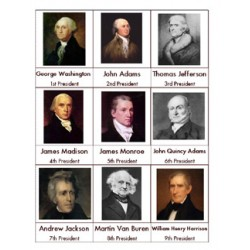 US President Nomenclature Cards - PDF File