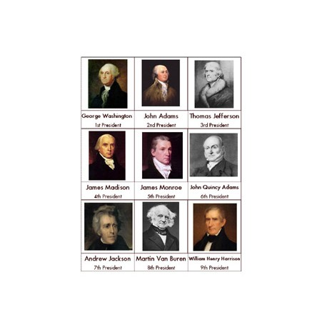 President Nomenclature Cards - PDF File