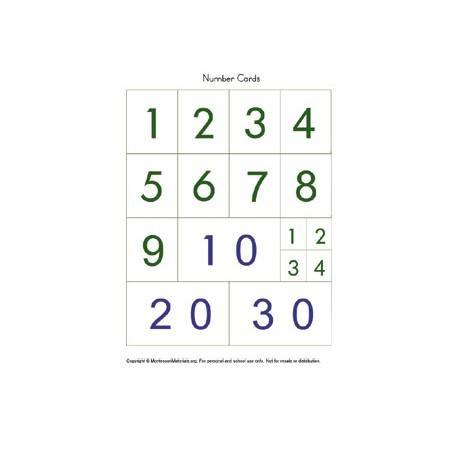Number Cards - PDF File