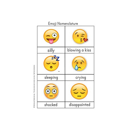 Emoji 3 part Cards - PDF File Only