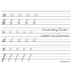 Handwriting Practice Work - PDF File Only