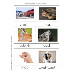 Onomatopoeia Cards - PDF File Only